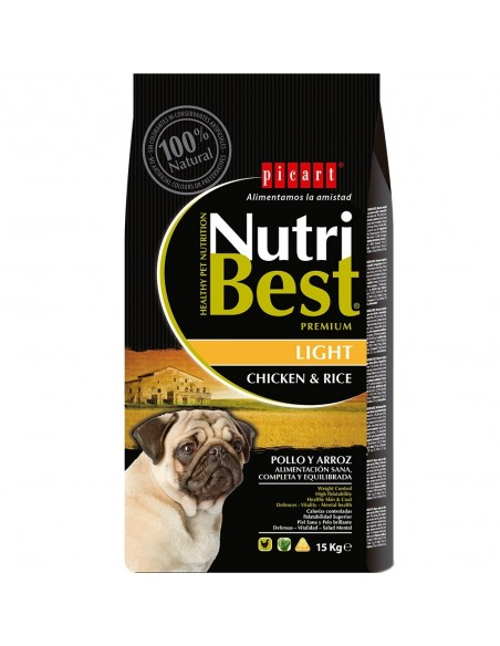 NUTRIBEST DOG AD. LIGHT 15 KG