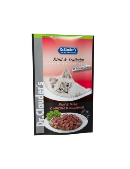 DR CLAUDER CAT POUCH VACA/PAVO 100 GR